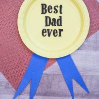 Best Dad Ever Paper Plate Craft