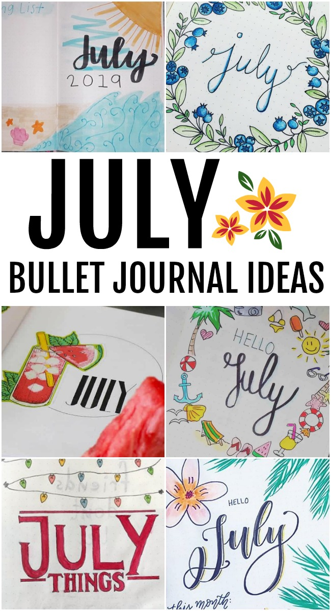 Snag some fun July Bullet Journal Ideas, simply gorgeous designs perfect for summer. Start organizing all of your summer activities, vacations & more.