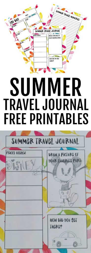 photo about Travel Journal Printable called Summer season Push Magazine for Youngsters + Totally free Printables