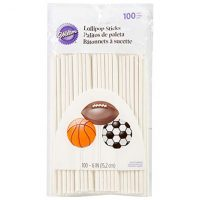 Wilton White 6-Inch Lollipop Sticks, 100-Count