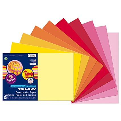 Warm Assorted Color Construction Paper