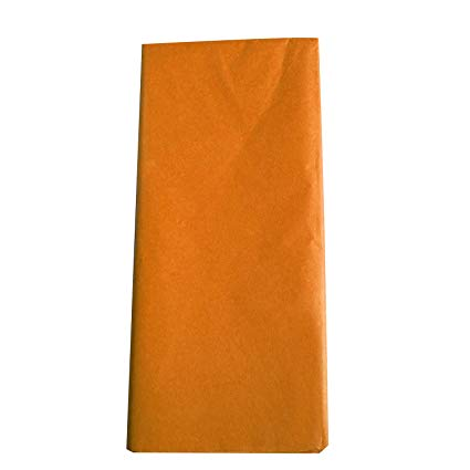 Orange Tissue Paper for Pumpkin Suncatchers