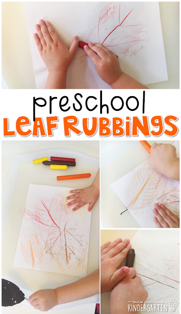 Preschool Leaf Rubbings