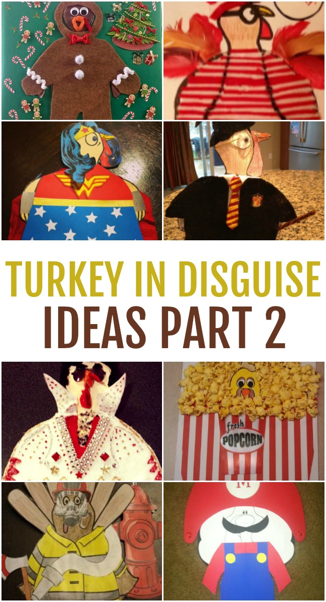 This image features a collage of the different Turkey in Disguise Ideas you can create.