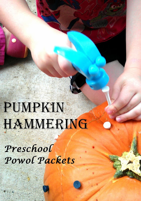 Pumpkin Hammering Preschool Activity