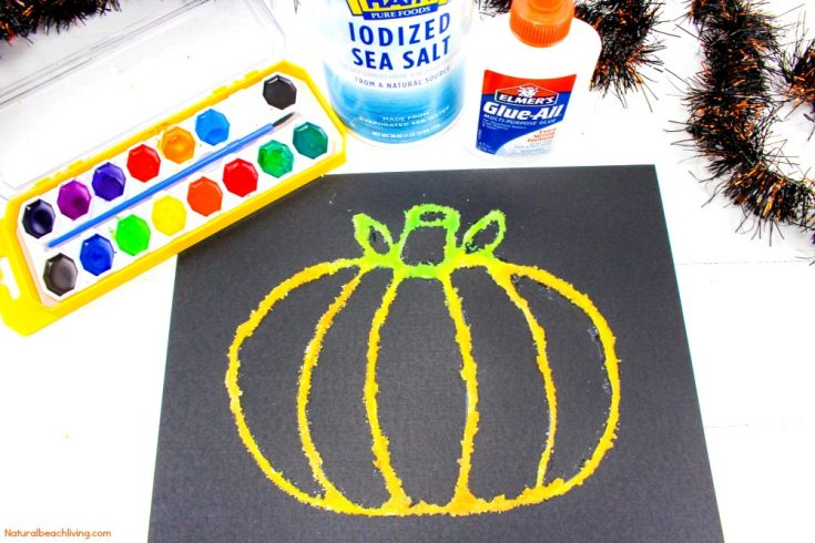 Halloween Pumpkin Salt Painting