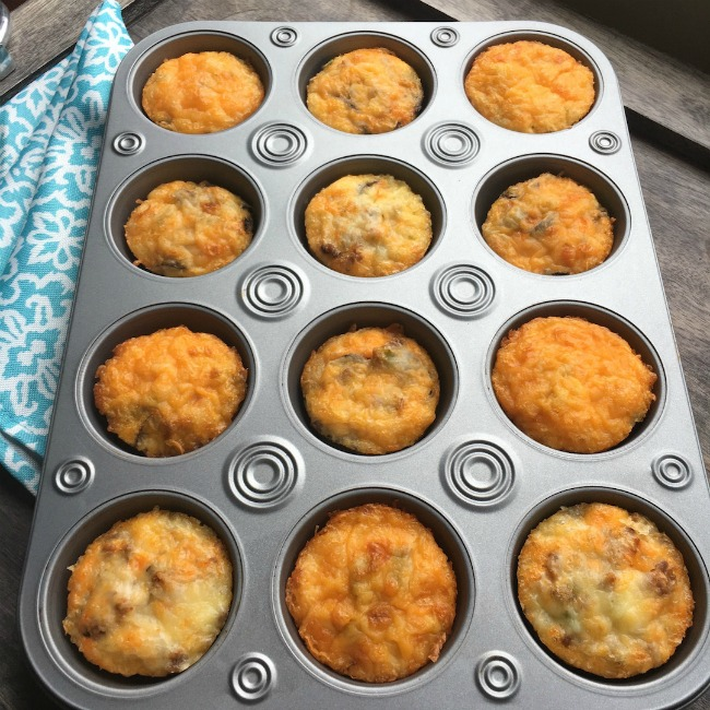 Spicy Egg Muffins in a 12 muffin tin.