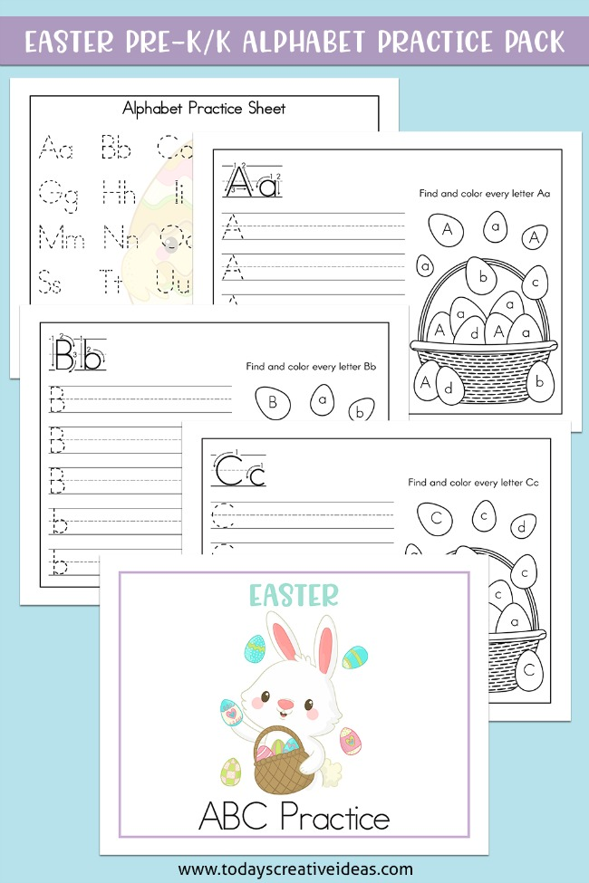 Easter Alphabet Practice Worksheets Today's Creative Ideas
