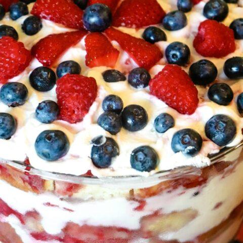 Raspberry Brandy Trifle