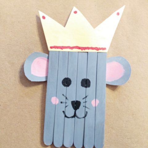 Popsicle Stick Mouse King