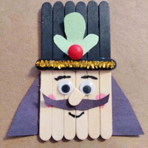 Popsicle Stick Nutcracker