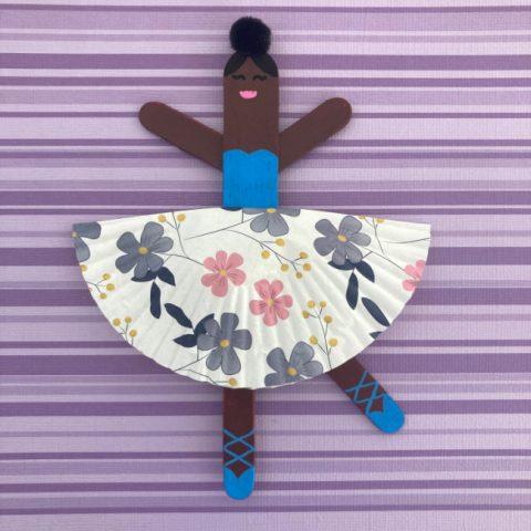 Popsicle Stick Ballerina