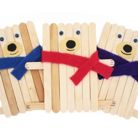Popsicle Stick Bear Craft