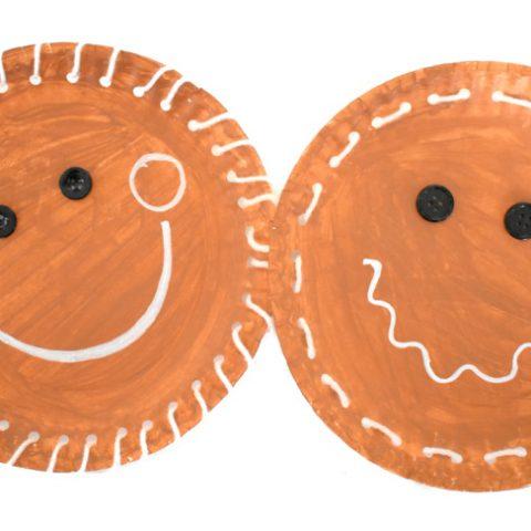Paper Plate Gingerbread Man