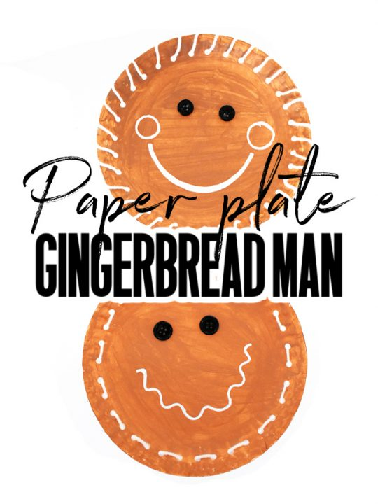 This photo features two different styles of paper plate gingerbread man crafts