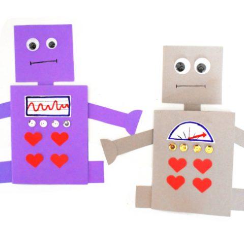 Love Robot Valentine Card