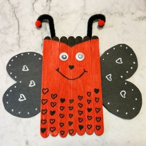 Popsicle Stick Love Bug