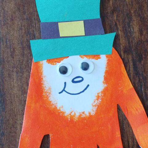 Handprint Leprechaun Card