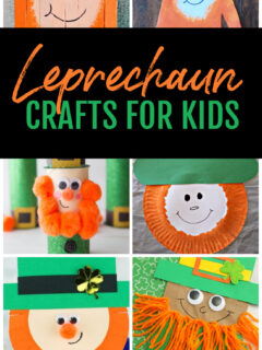 Collage of Leprechaun Crafts for Kids