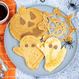 Festive Halloween Pancakes