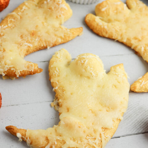 Spooktacular Cheesy Ghost Crescent Rolls